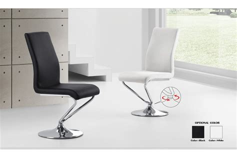 chaise de bureau solde chaise design turn assise pivotante blanc noir chaises