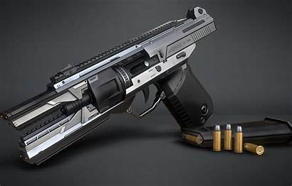 Sci Fi Handgun Gun Marcelo Weapons Hand