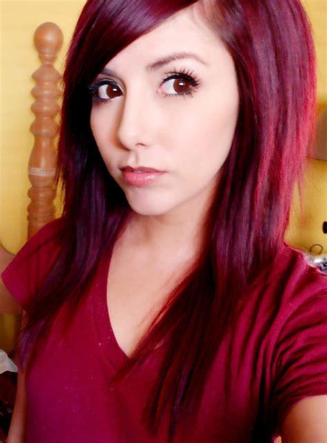 technicolor  hair color    dark red hair