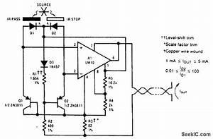 Optoelectronic Pyrometer - Sensor Circuit - Circuit Diagram