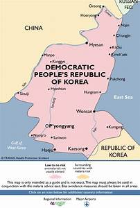 Democratic People's Republic of Korea Malaria Map - Fit ...