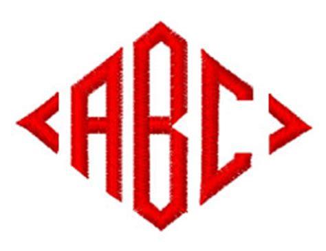 diamond monogram  internet stitch home format fonts  embroiderydesignscom