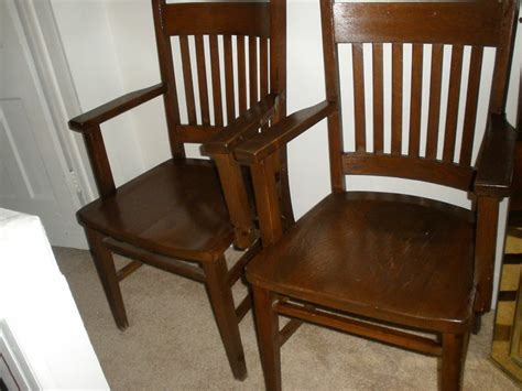 Antique Mission Style Barber Shop Waiting Chairs----two