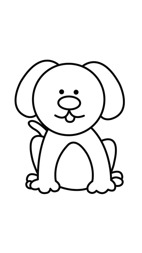 easy dog face drawing drawings litle pups