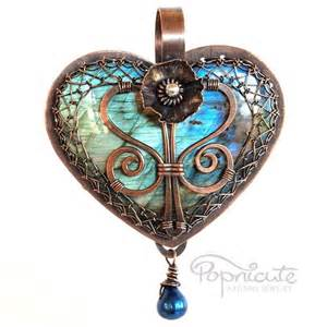 custom order for one sided wire wrapped heart