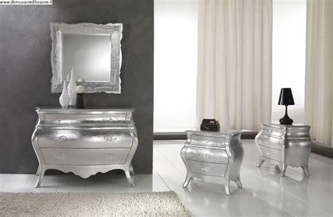 comodini argento como e comodini foglia argento