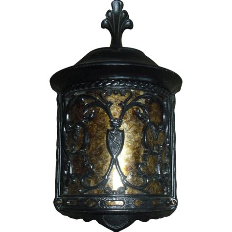 revival porch light fixtures with mica panels 4