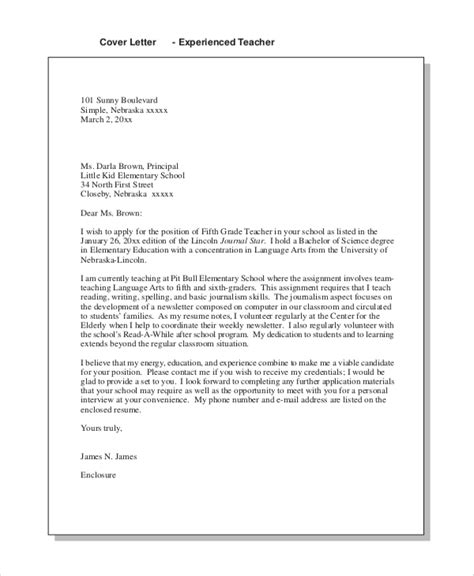 sample teaching cover letter  examples  word