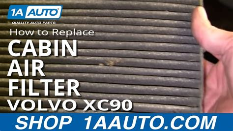 install replace cabin air filter volvo xc
