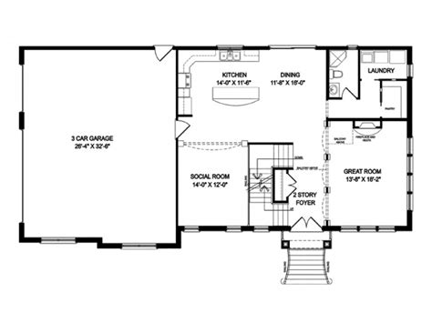 enchanting open concept house plans  story contemporary