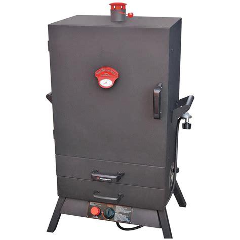gas smoker wide 2 drawer 38 vertical gas smoker from landmann 517177 grills smokers
