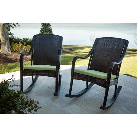 Porch Set by Hanover Orleans 2 Porch Rocker Set With Cushions