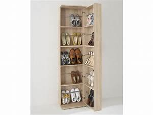meuble a chaussures 1 porte 1 miroir 20 paires walker With meuble a chaussure maison