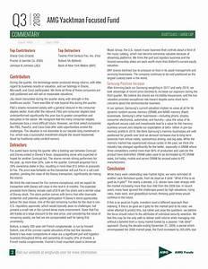 AMG Yacktman Focused Fund Q3 2018 Commentary - Twenty ...
