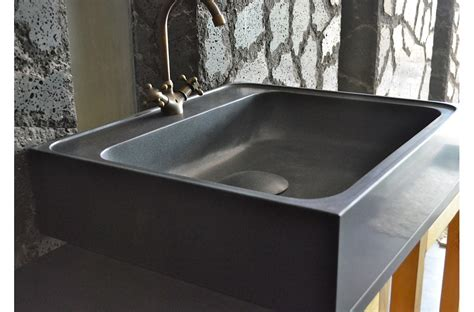 70 x 60cm évier de cuisine en granit noir véritable