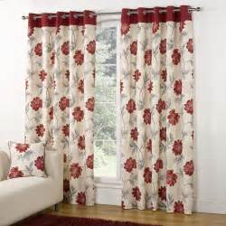 Light Grey Curtains Eyelet by Modern Casa Floral Trail Print Lined Eyelet Curtains Red