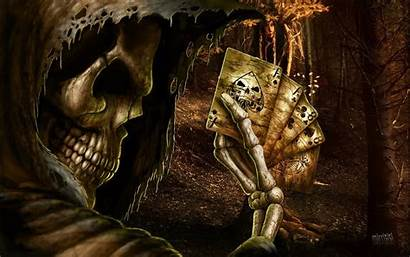 Reaper Grim Creepy Horror Dark Screensavers Skull