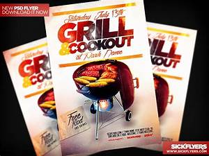 30 best free psd flyer templates for Cookout flyer templates
