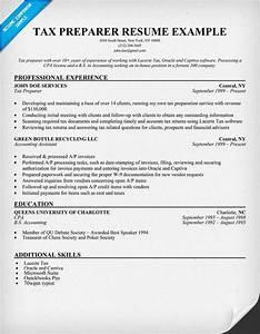 Tax preparer resume sample resume samples across all for Tax preparer resume templates