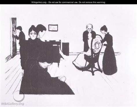 la chambre mortuaire 1896 edvard munch wikigallery org