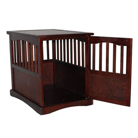 dog cage end table pet crate end table lola pinterest