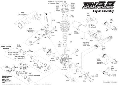 Traxxa T Maxx Steering Diagram by Exploded View Traxxas Engine Trx 3 3 Engine Astra