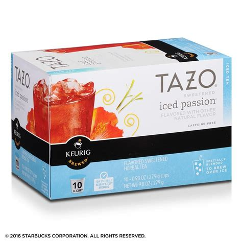 Amazoncom Tazo Sweetened Passion Iced Tea K Cup For
