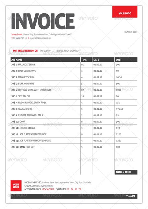 generic invoice template  ninetydegrees graphicriver