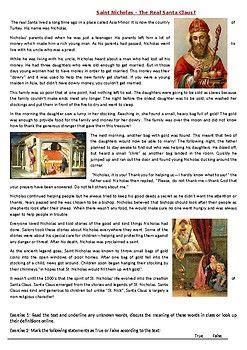 saint nicholas  real santa claus reading