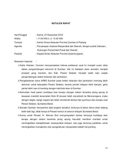 Cara Menjadi Notulen by Notulen Kkd B 12 17 Des 2012 13 Jan 2013