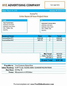 invoice template for advertising agency company service With ad agency invoice