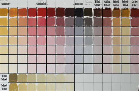 skin tone chart for painting the color