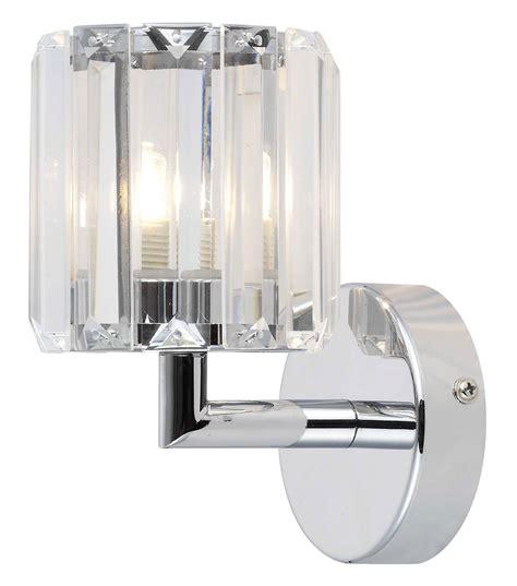 pereti chrome effect single wall light departments diy