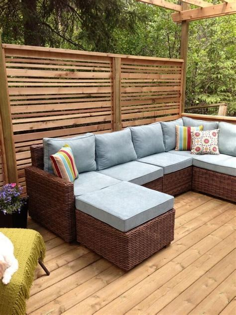 Deck Pergola Privacy Screen  Woodworking Projects & Plans