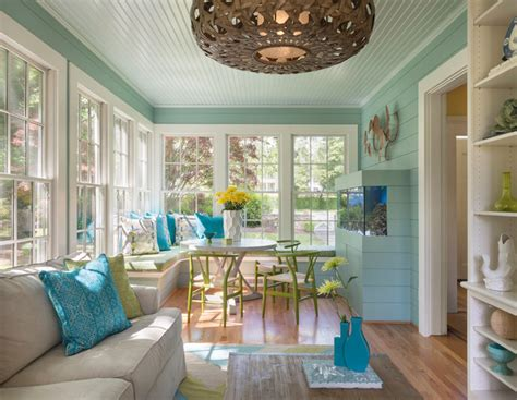 Hill And Harbour  Beach Style  Sunroom  Providence By
