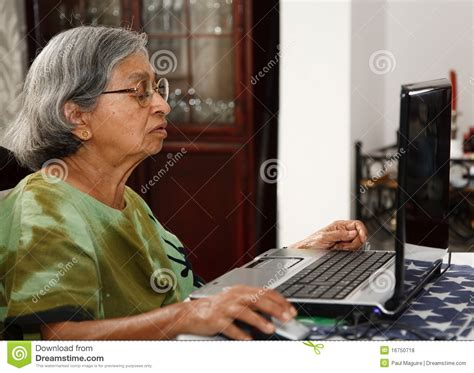 asian  woman  computer royalty  stock