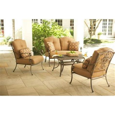 martha stewart living miramar ii 4 piece patio seating set