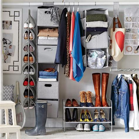tips  organizing  small reach  closet hgtvs