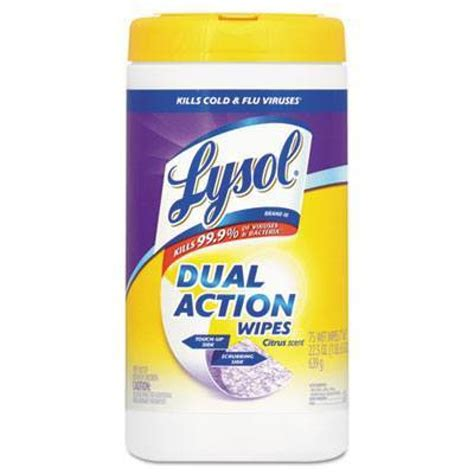 Lysol® Dual Action Disinfecting Wipes - Citrus Scent