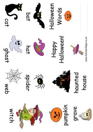 halloween word booklet