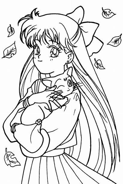 Sailor Venus Coloring Moon Pages Drawing Manga