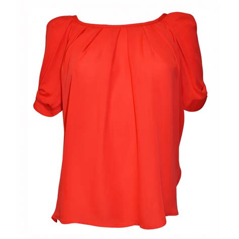 the blouse joie eleanor silk blouse top in cherry
