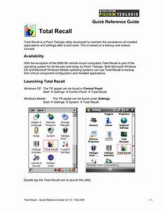 Total Recall Quick Reference Guide
