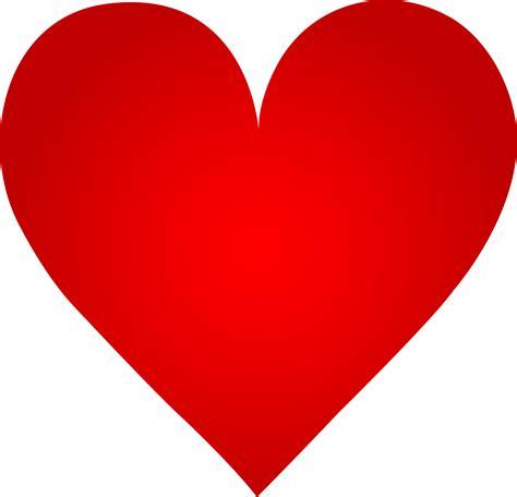 big red heart  clip art