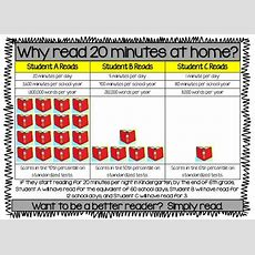 Free Why Read 20 Minutes At Home? Great Handout To Give To Students And Parents  Back To