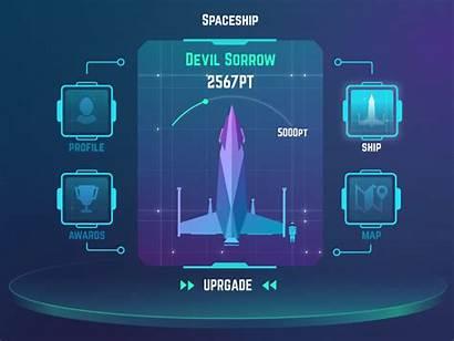 Futuristic Ui Dribbble Glafira Spaceship