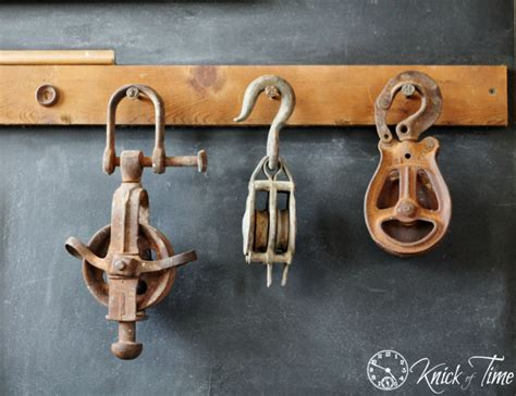 Old Barn Pulleys And Hooks