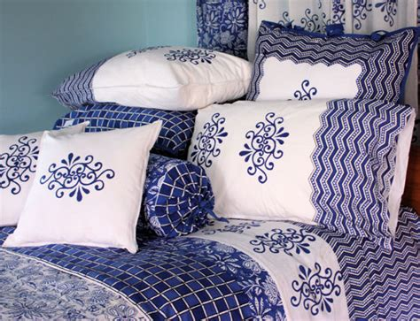 Indian Bedspreads, Block Print Bedspread From India