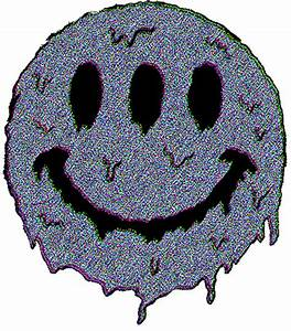 grunge smiley face