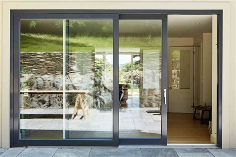 aluminium clad wood lift  doors gallery